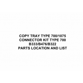 RICOH Options B333 COPY-TRAY-TYPE-700-1075 Parts Catalog