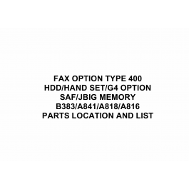 RICOH Options B383 FAX-OPTION-TYPE Parts Catalog PDF download