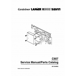 RICOH Options Printer-Controller-Type-80 C607 Service Manual