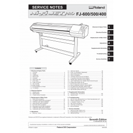 Roland Hi-Fi-JET-Pro FJ 600 500 400 Service Notes Manual