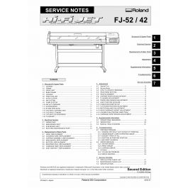 Roland Hi-Fi-JET FJ 52 42 Service Notes Manual