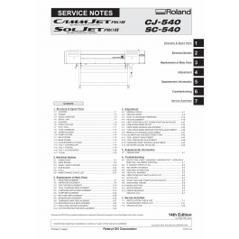 Roland SOLJET-Pro2 SC 540 CJ-540 Service Notes Manual