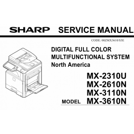 SHARP MX 2310U 2610N 3110N 3610N Service Manual