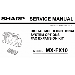 SHARP MX FX10 Service Manual