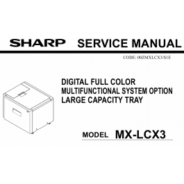 SHARP MX LCX3 Service Manual