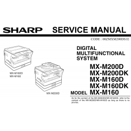 SHARP MX M160 M200 D DK Service Manual
