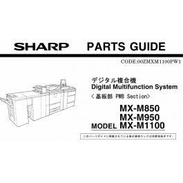 SHARP MX M850 M950 M1100 PWB Parts Manual