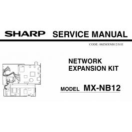 SHARP MX NB12 Service Manual