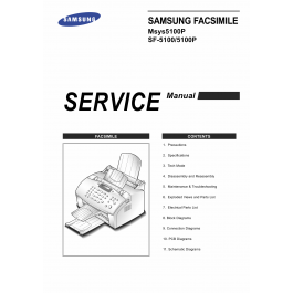 Samsung FACXIMILE SF-5100 5100P Msys-5100P Parts and