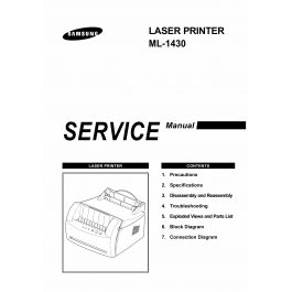Samsung Laser-Printer ML-1430 Parts and Service Manual