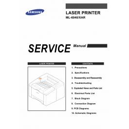 Samsung Laser-Printer ML-6040 Parts and Service