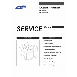 Samsung Laser-Printer ML-6060 6060N Parts and Service Manual