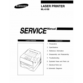Samsung Laser-Printer ML-6100 Parts and Service Manual