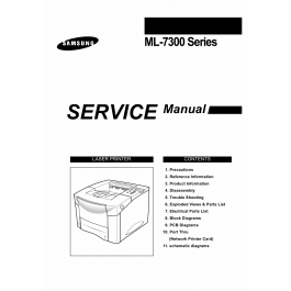 Samsung Laser-Printer ML-7300 Parts and Service Manual