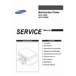Samsung Multi-Function-Printer SCX-1000I 1000SI Parts and