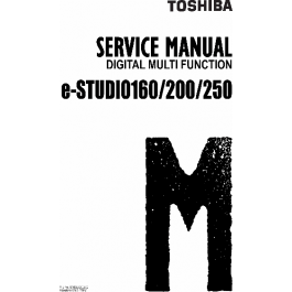 TOSHIBA e-STUDIO 160 200 250 DP1610 Service Manual