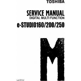 TOSHIBA e-STUDIO 160 200 250 DP1610 Service Manual