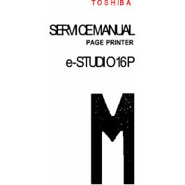 TOSHIBA e-STUDIO 16P Service Manual and Parts