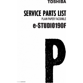 TOSHIBA e-STUDIO 190F Parts List Manual
