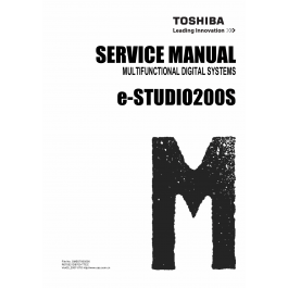 TOSHIBA e-STUDIO 200S Service Manual