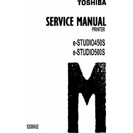 TOSHIBA e-STUDIO 450S 500S Service Manual