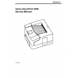 Xerox DocuPrint 4508 Parts List and Service Manual