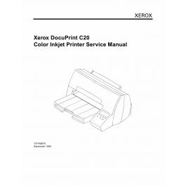 Xerox DocuPrint C20 Parts List and Service Manual