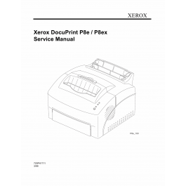 Xerox DocuPrint P8e P8ex Parts List and Service Manual