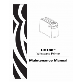 Zebra Label HC100 Maintenance Service Manual