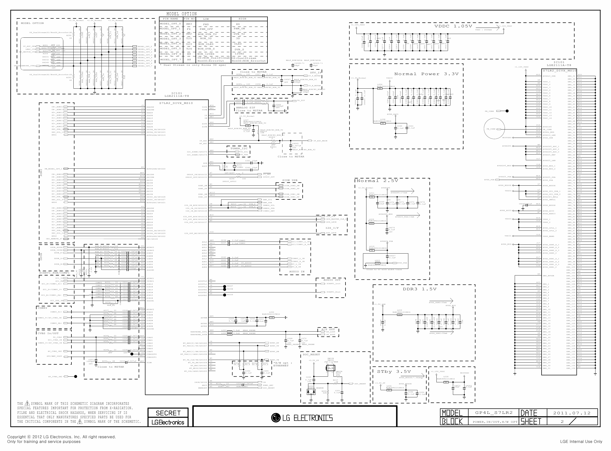LG LED TV 42LS3400 Service Manual