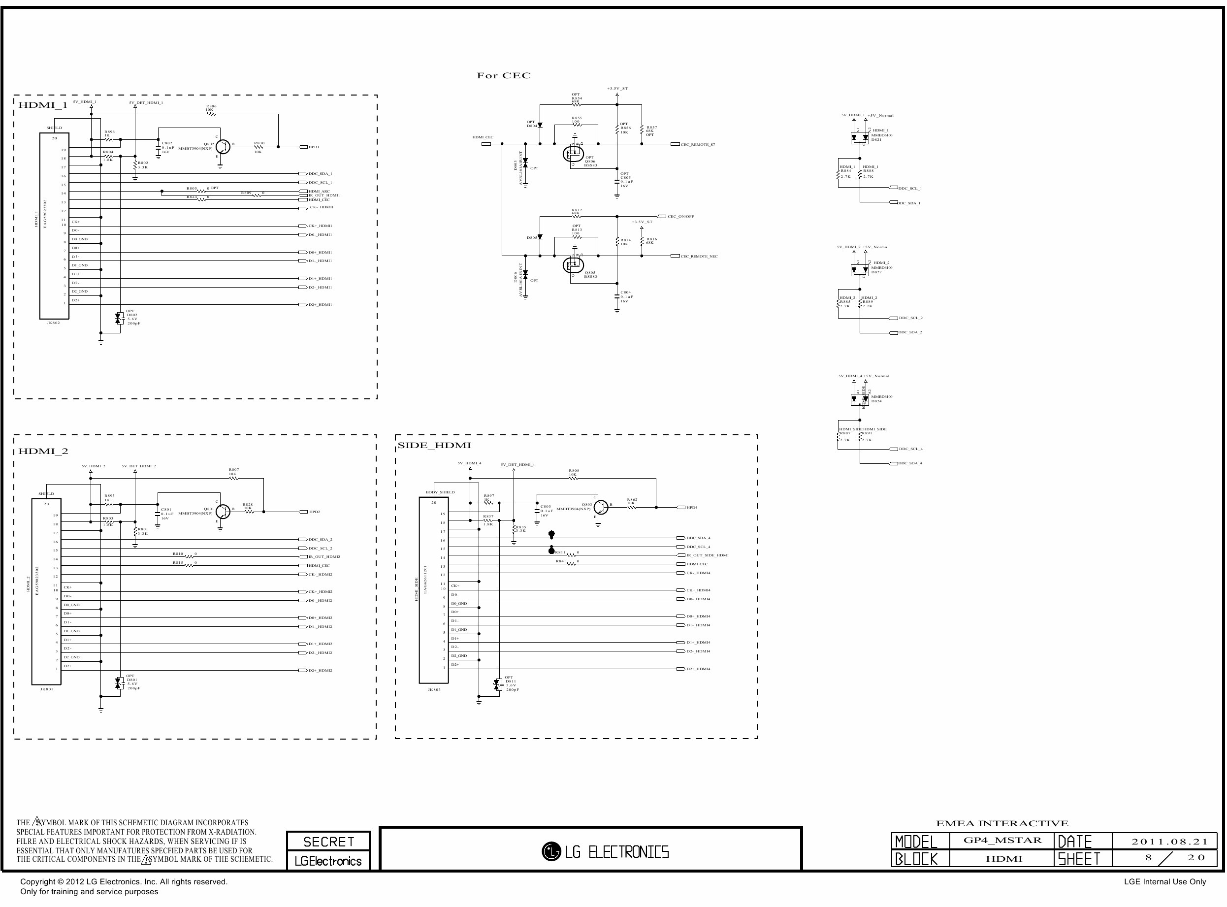 LG LED TV 26LT640H Service Manual