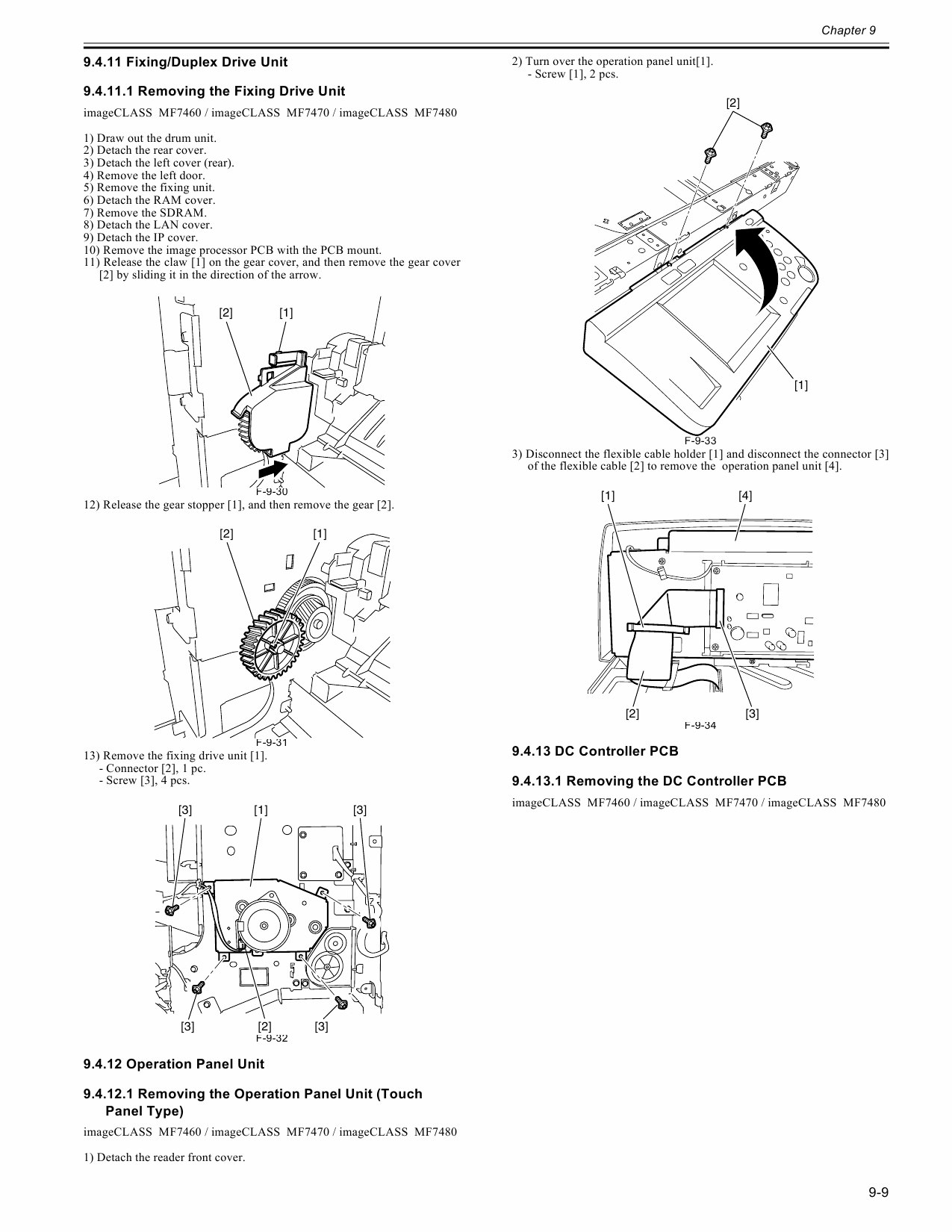Canon imageCLASS MF-7460 7470 7480 Service and Parts Manual