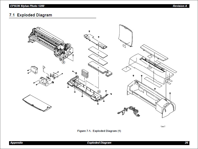 EPSON Stylus Photo 1200 Service Manual