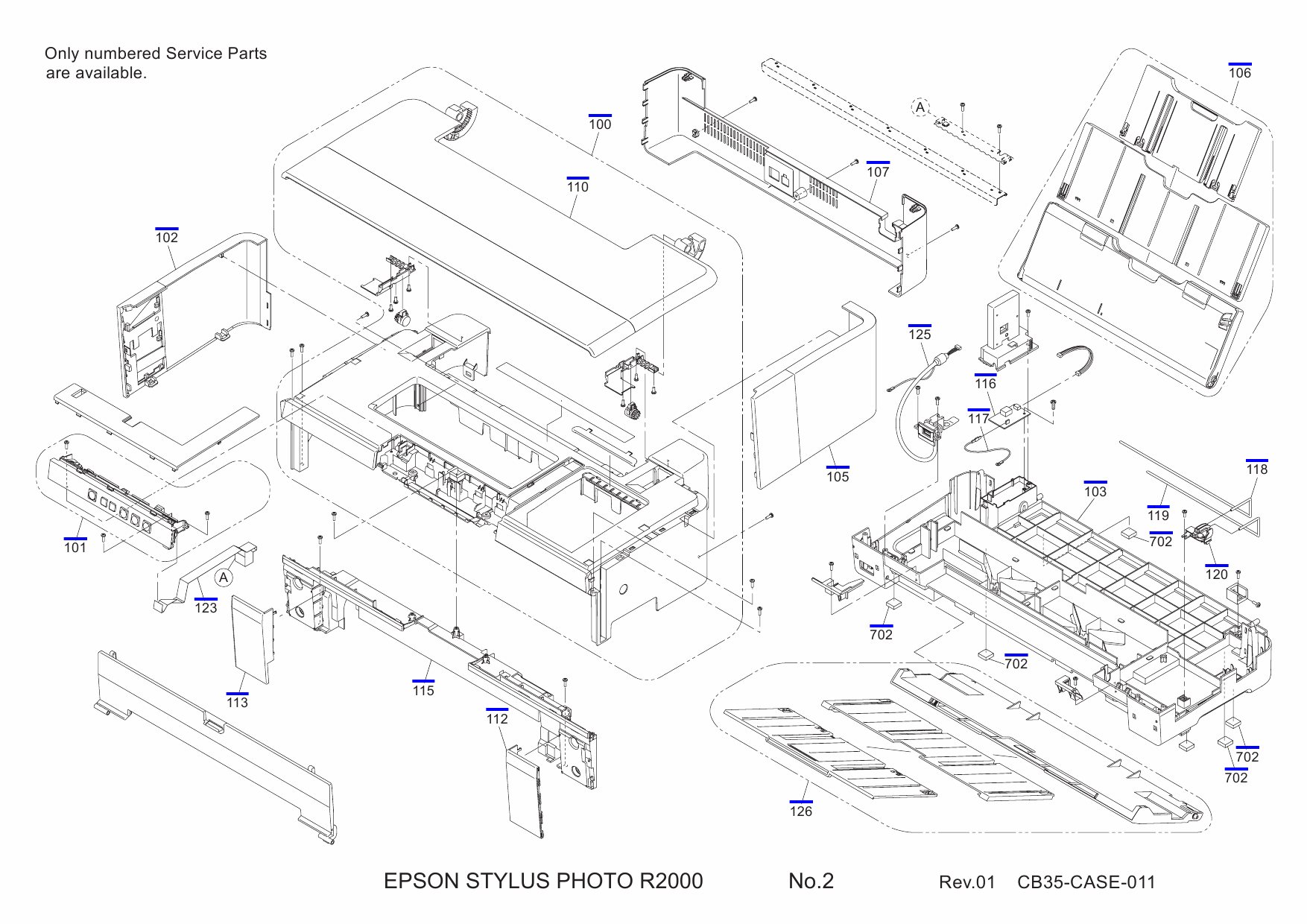 EPSON StylusPhoto R2000 Parts Manual