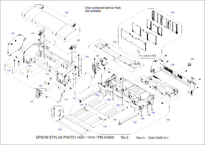 Epson Stylus Photo 1400 Parts Manual
