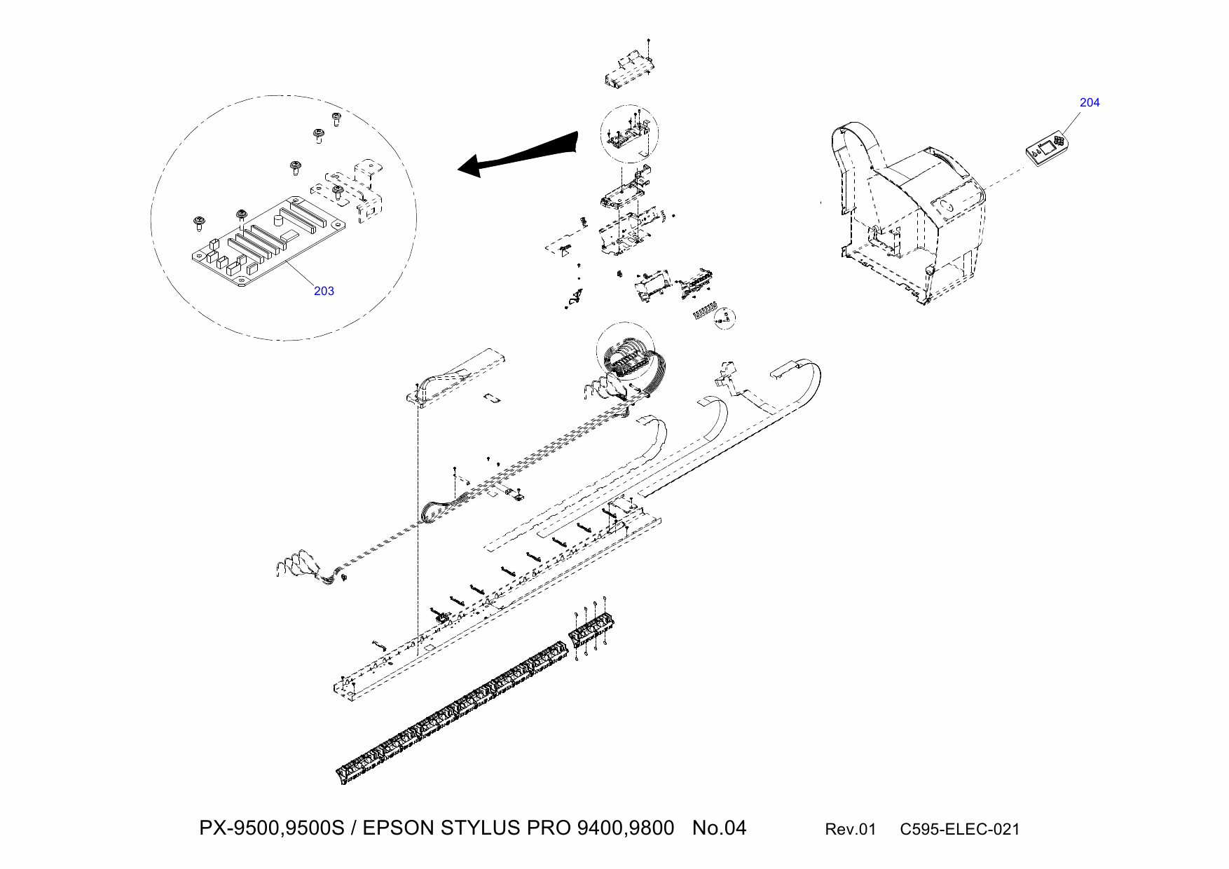 EPSON StylusPro 9400 9800 Parts Manual
