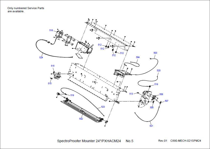 Epson Stylus Pro 7900/9900/7910/9910/PX-H8000/10000 PARTS