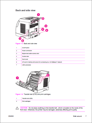 HP Color LaserJet 2600n Service Manual  Repair Printer