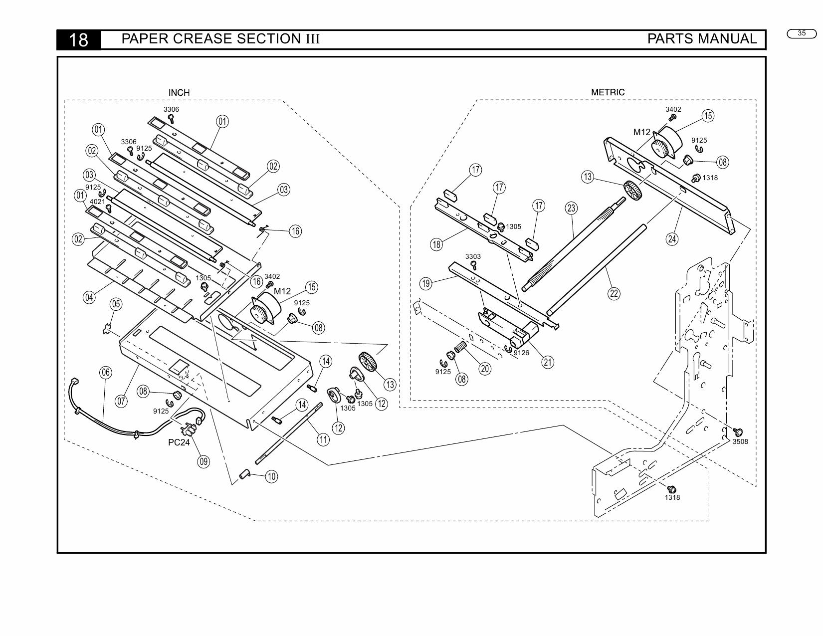 Konica-Minolta Options FN-3 Parts Manual