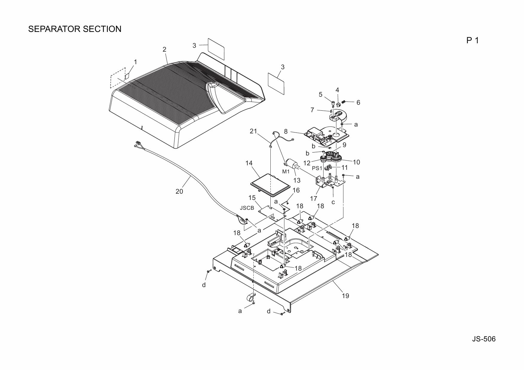 Konica-Minolta Options JS-506 A2YV Parts Manual