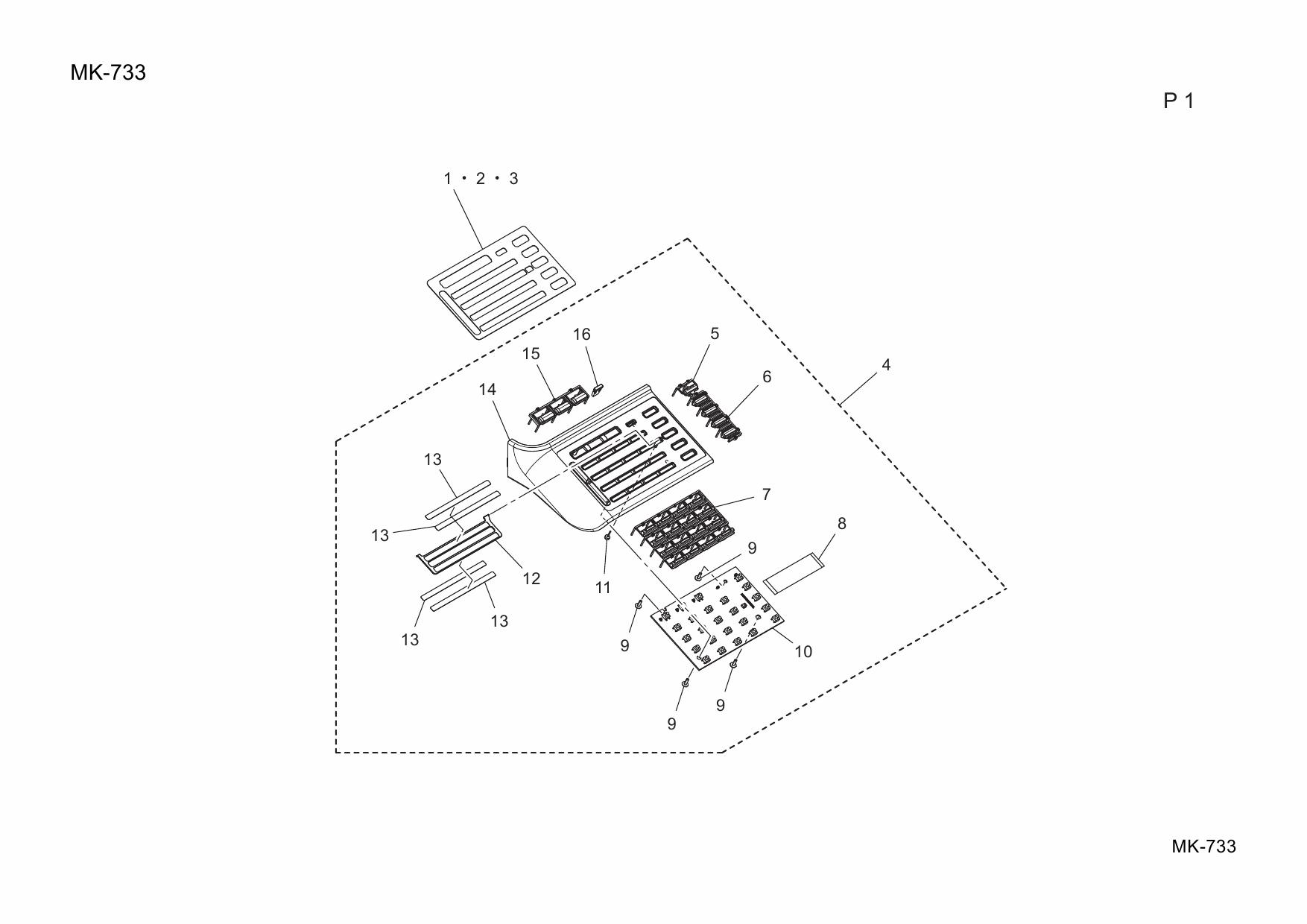 Konica-Minolta Options MK-733 A4M6 Parts Manual