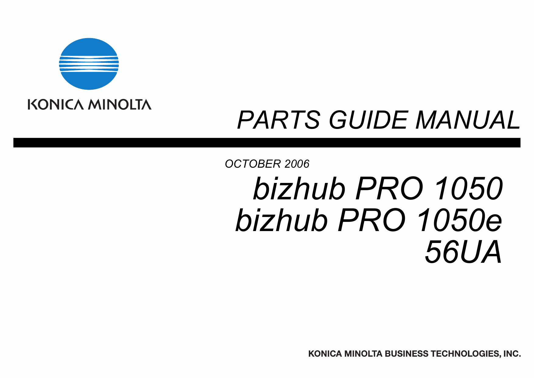 Pro Q Manual Auto Electrical Wiring Diagram Freedom 458 Inverter Konica Minolta Bizhub 1050 1050e Parts