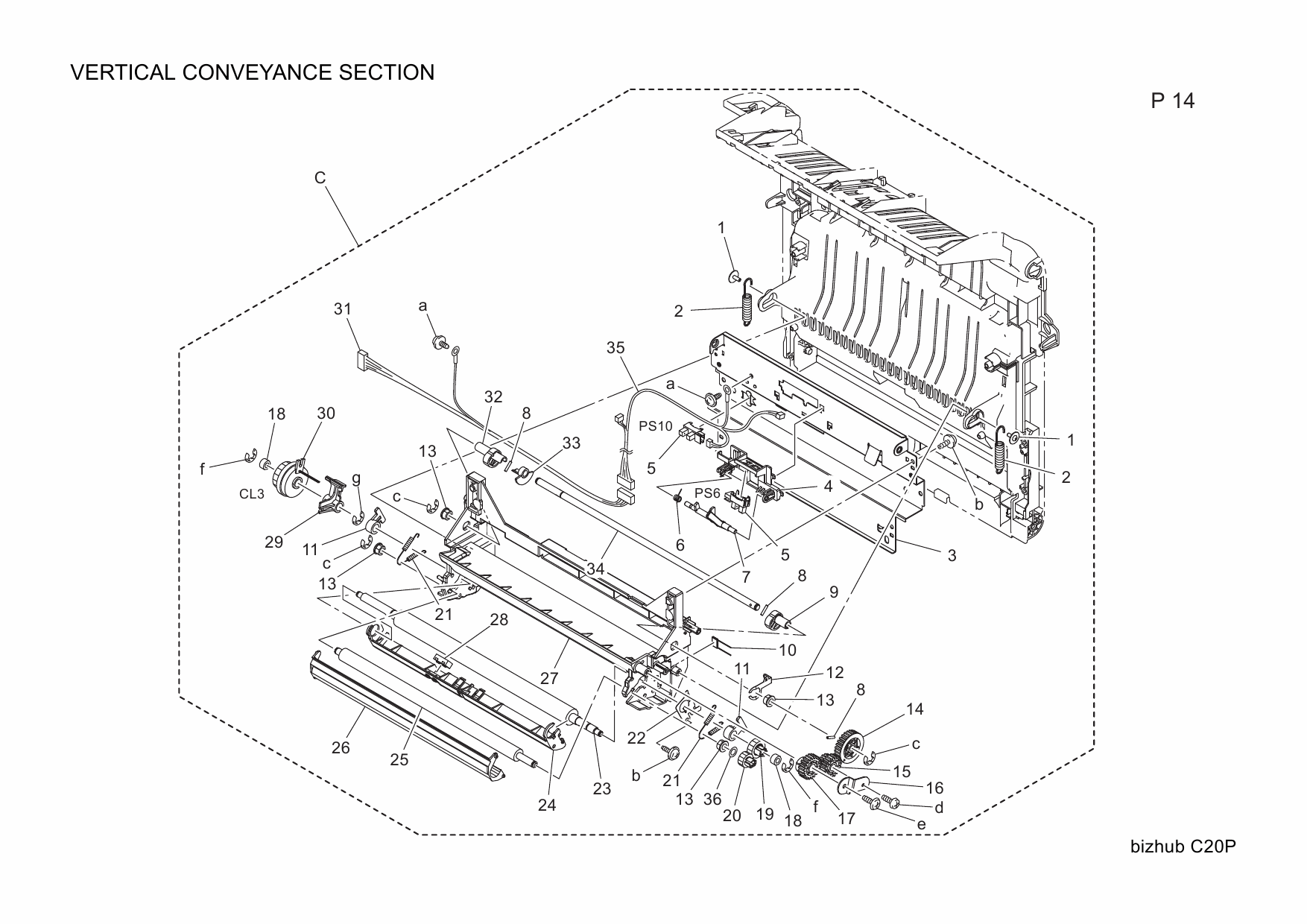 Konica-Minolta bizhub C20P Parts Manual