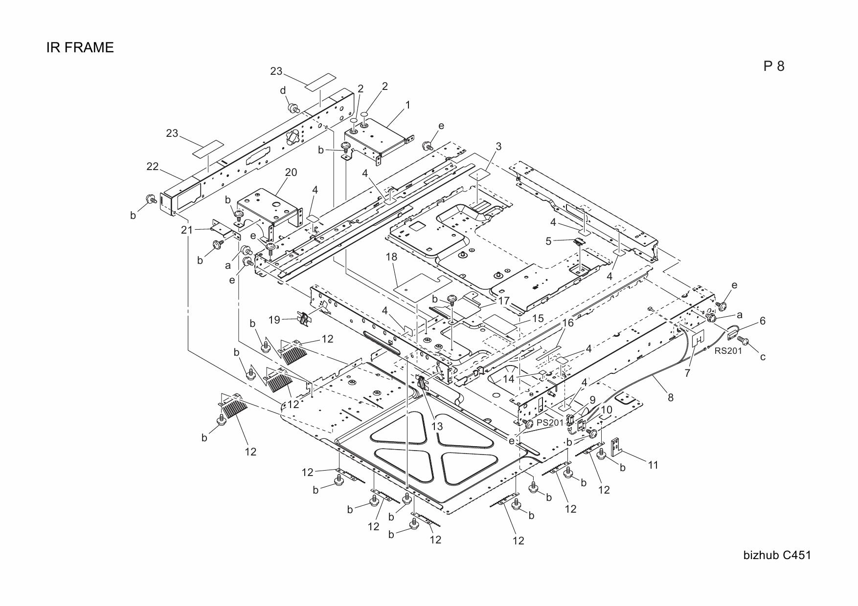 Konica-Minolta bizhub C451 Parts Manual