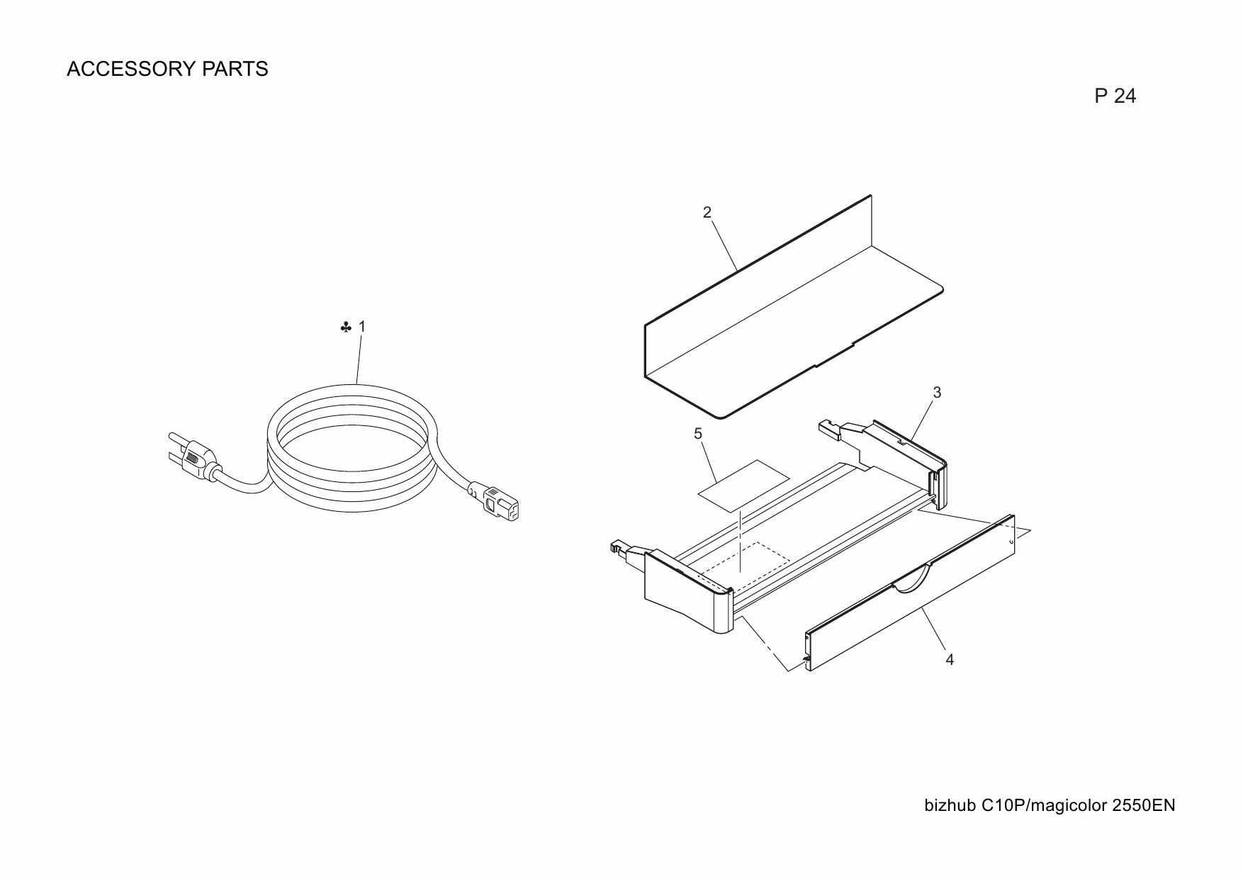 Konica-Minolta magicolor 2550EN A00V003 Parts Manual