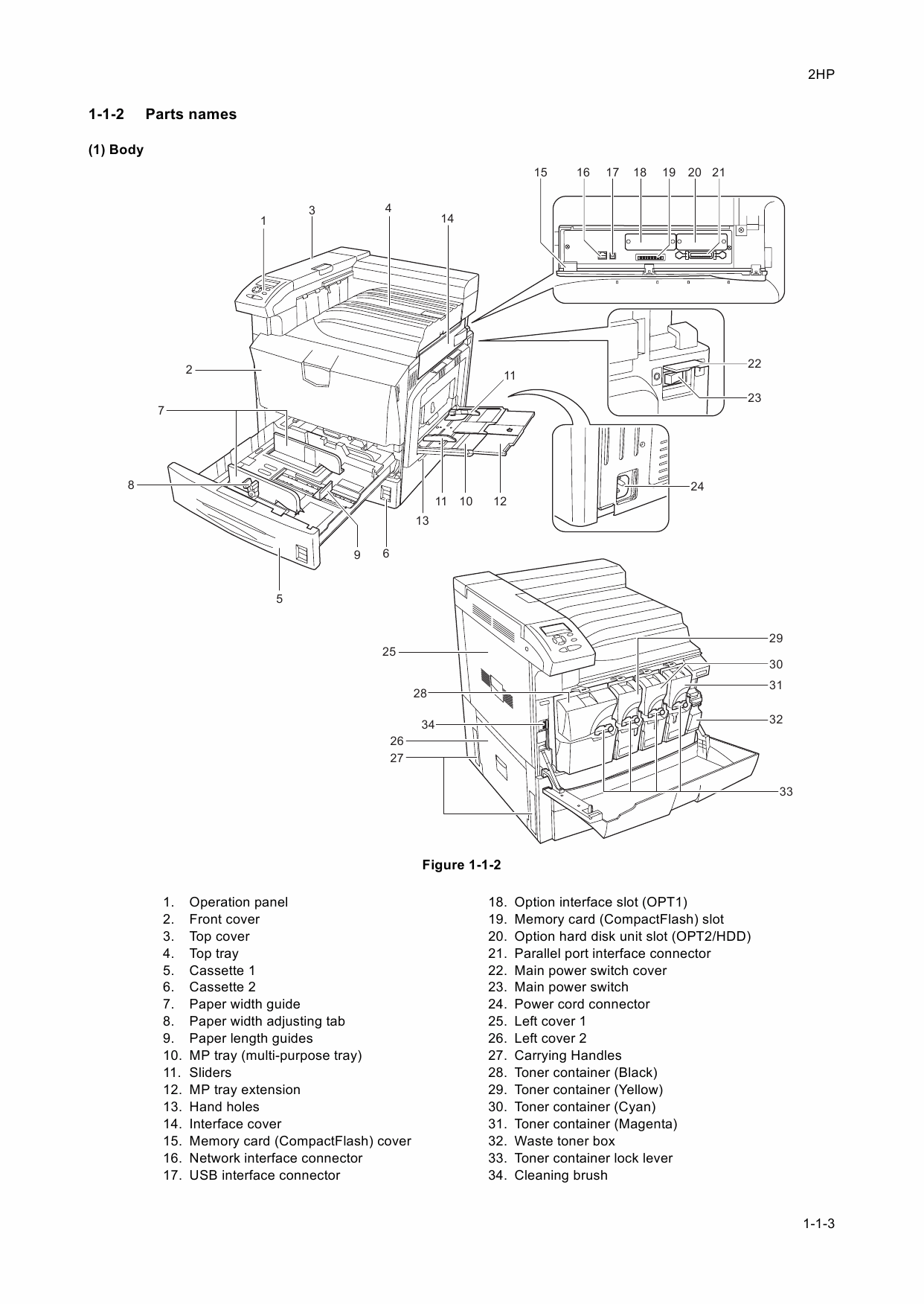 KYOCERA ColorLaserPrinter FS-C8100DN Parts and Service Manual