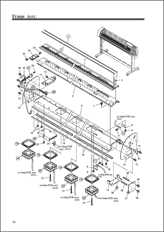 MIMAKI CG-75FX_130FX_160FX Maintenance and Parts Manual