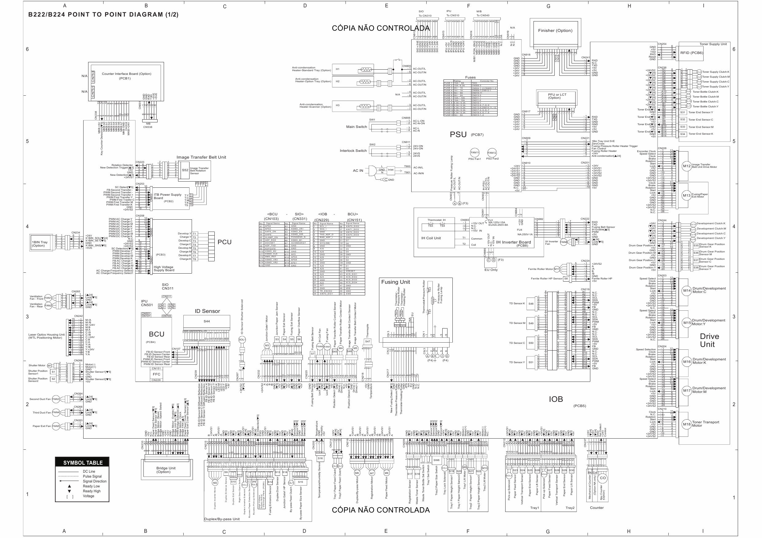 RICOH Aficio MP-C3500 C4500 B222 B224 Circuit Diagram