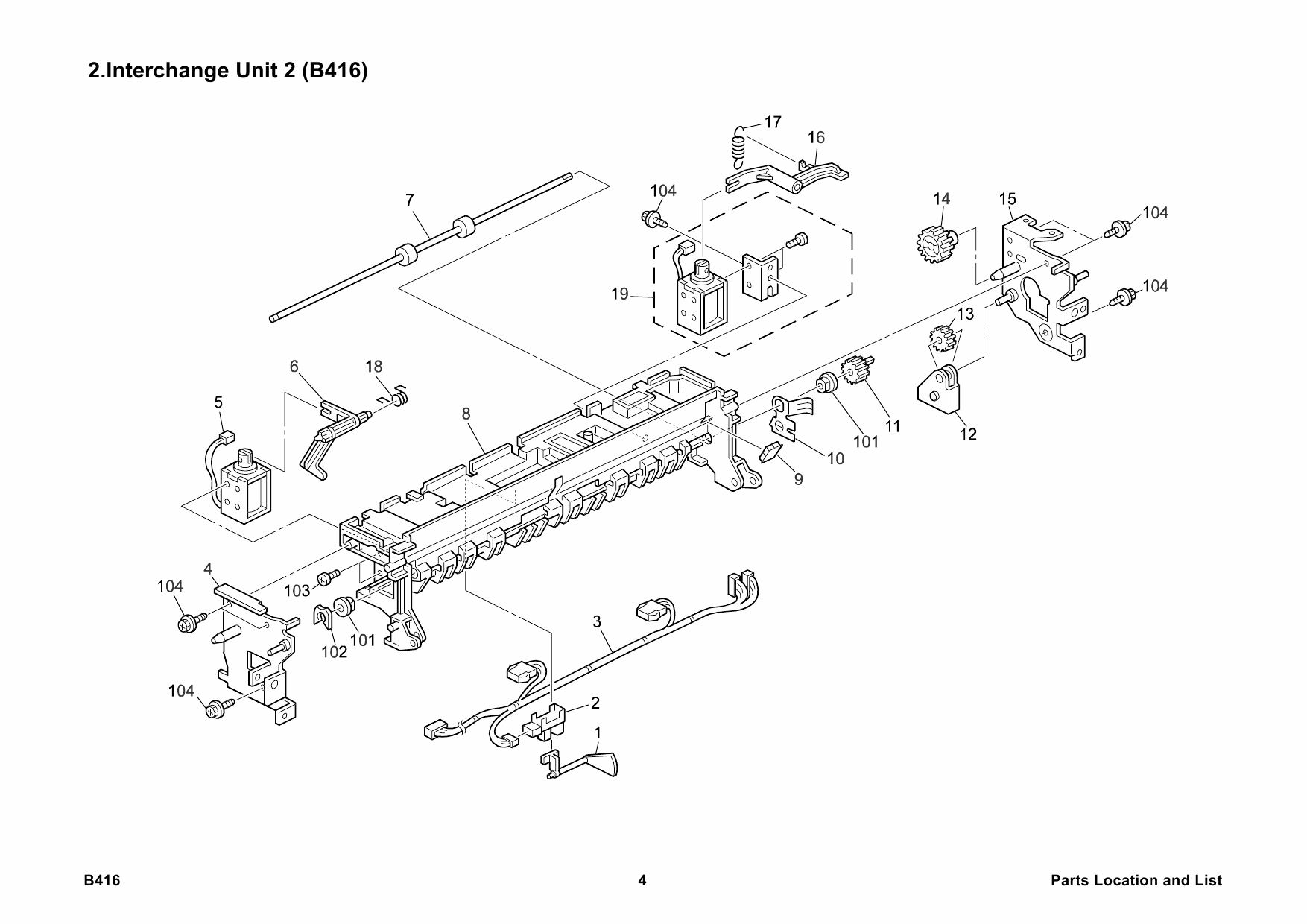 RICOH Options B416 INTERCHANGE-UNIT Parts Catalog PDF download