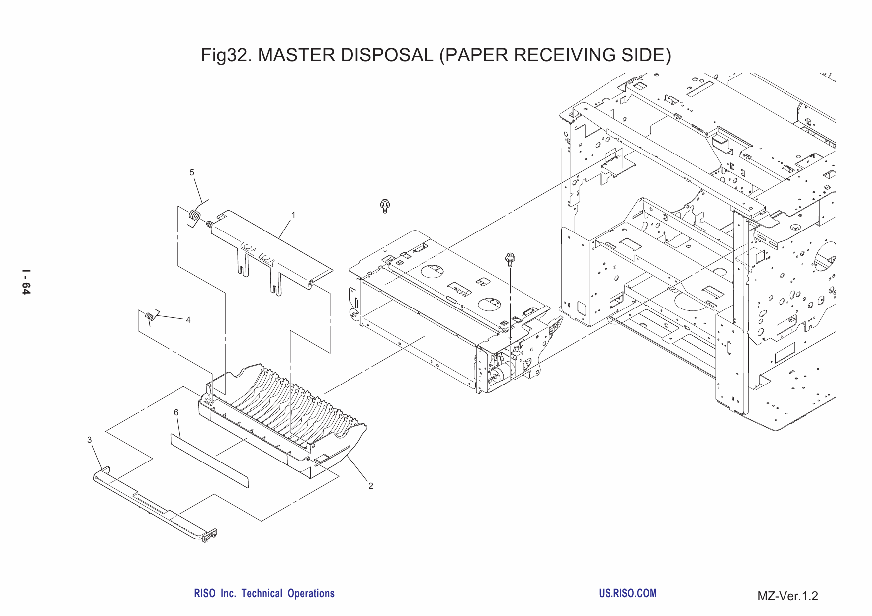 RISO MZ 770 790 MV-7690 Parts List Manual